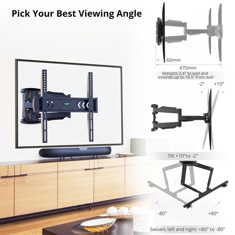 "Wall Mount for 23"" to 55"" TVs"