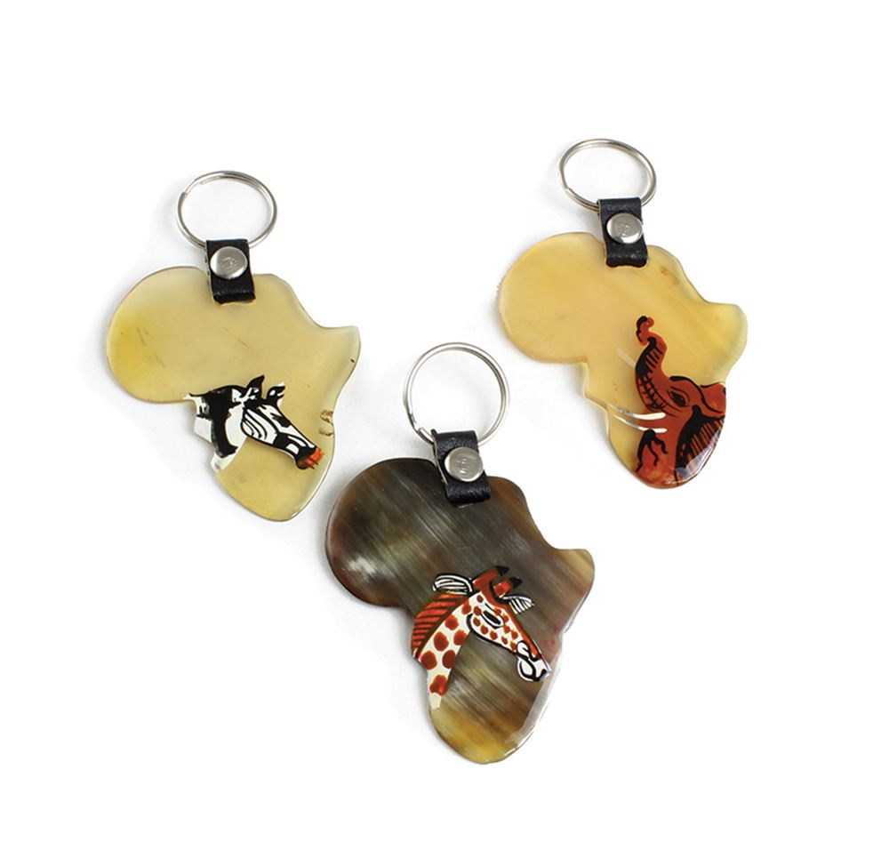 Africa Animal Bone Keychain - Assorted Animals