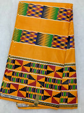 Orange Multicolor Kente Print