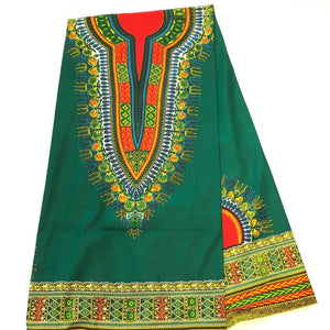 Dashiki - Angela Print Panel - Hunter Green