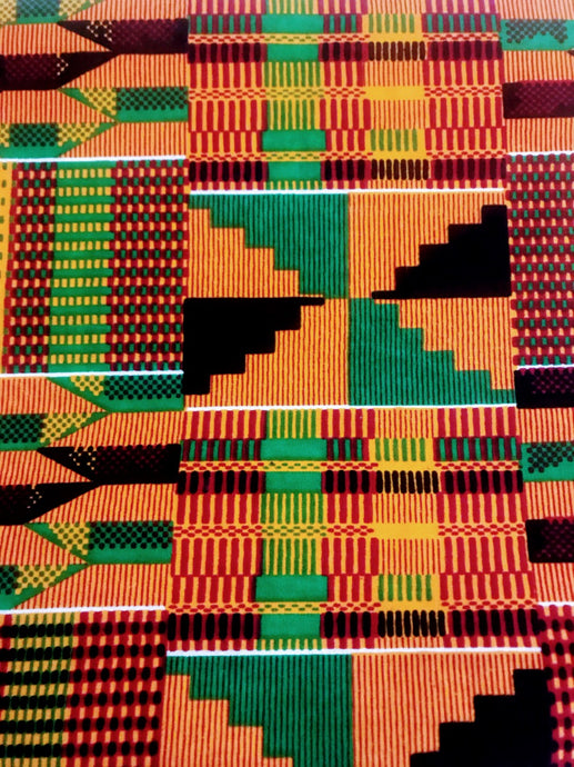 Traditional - Multicolored Kente Print