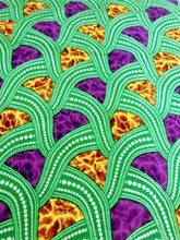 Purple and Green Print Ankara