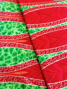 Red and Green Print Ankara