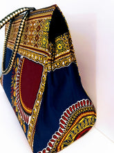 Dashiki/Angelina Print Purse - Style 02 - Royal Blue