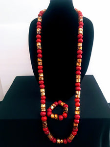 Nigerian Bead Jewelry Set - Men's 03