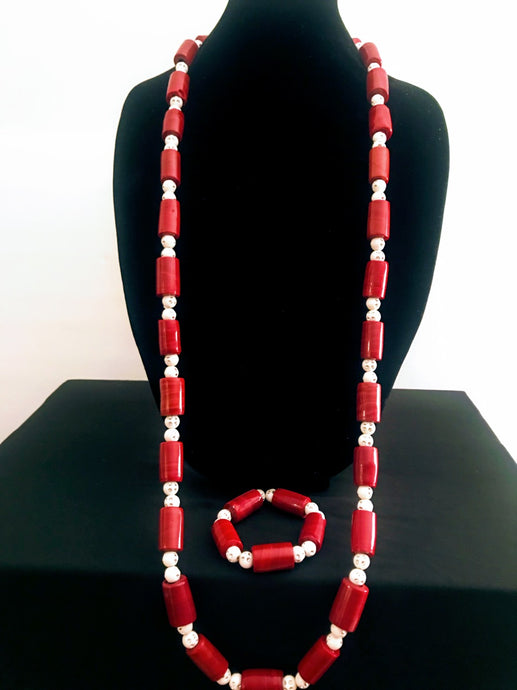 Nigerian Bead Jewelry Set - Men's 02