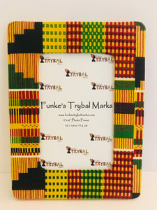 "Kente Print Fabric Picture Frame B1 - 4""x6"""