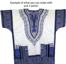 Dashiki - Angela Print Panel - Blue
