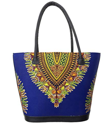 Dashiki/Angelina Print Purse - Style 01 - Blue