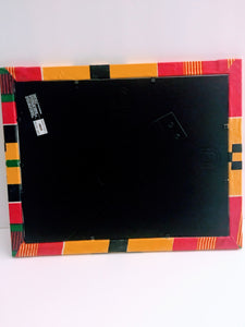 "Kente Print Fabric Picture Frame C2 - 8.5""x11"""