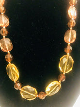 Amber-Colored Acrylic Necklace Set