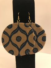 Large Ankara-Covered Wood Earrings - Assorted Colors