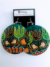 Ankara-Covered Wire Earrings - Assorted Colors