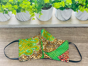 Reusable African-Print Cotton Face Masks - Style B
