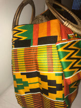 Bamboo Handle Kente Print Purse