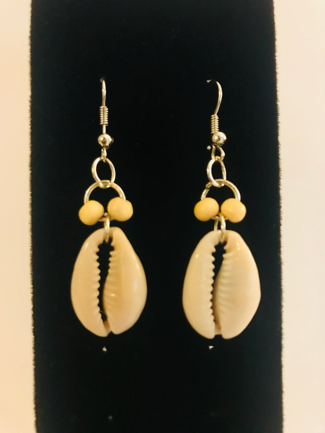 Cowrie Shell and Bead Earrings - Multiple Colors CB1