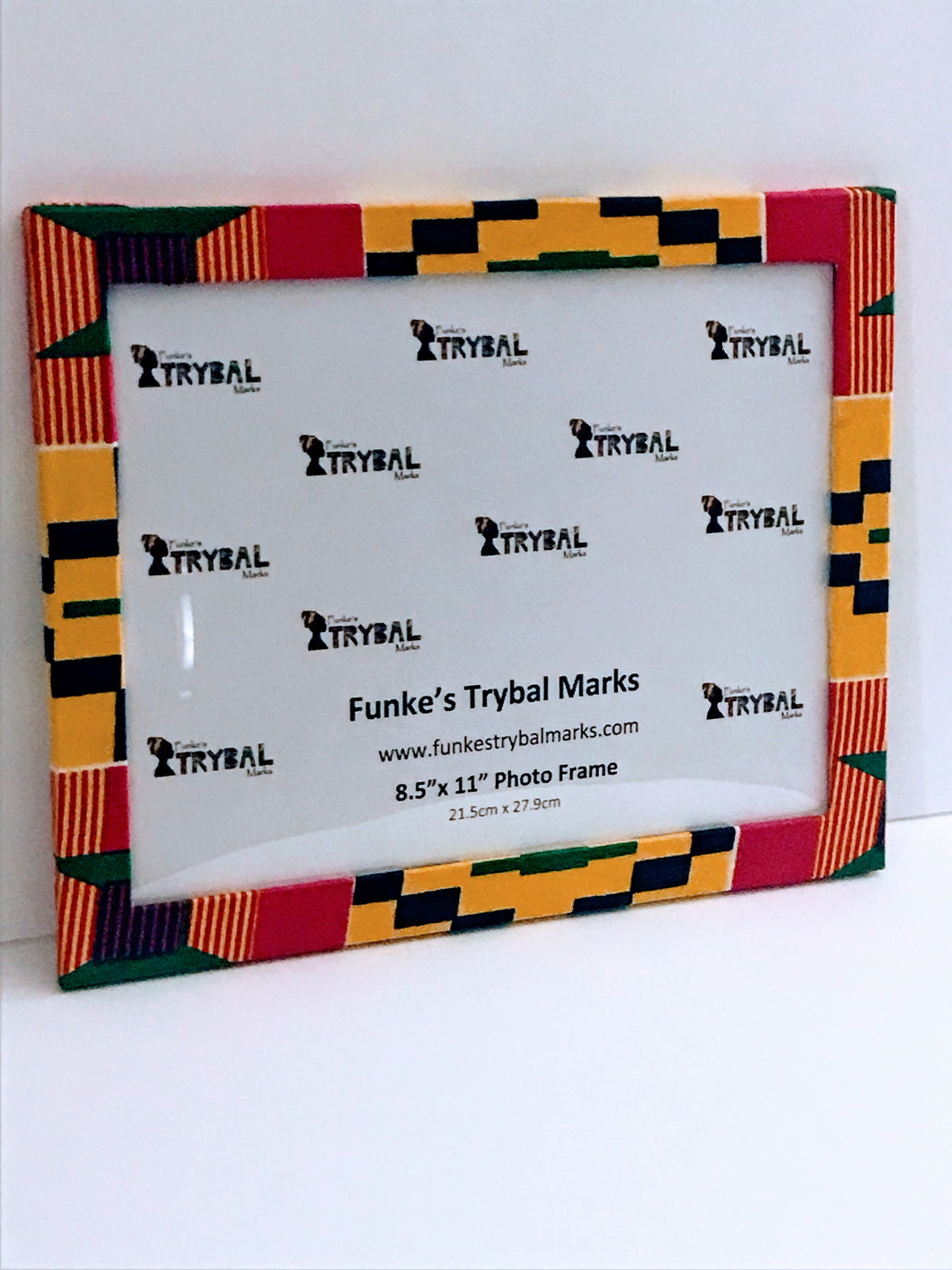 Kente Print Fabric Picture Frame C2 - 8.5