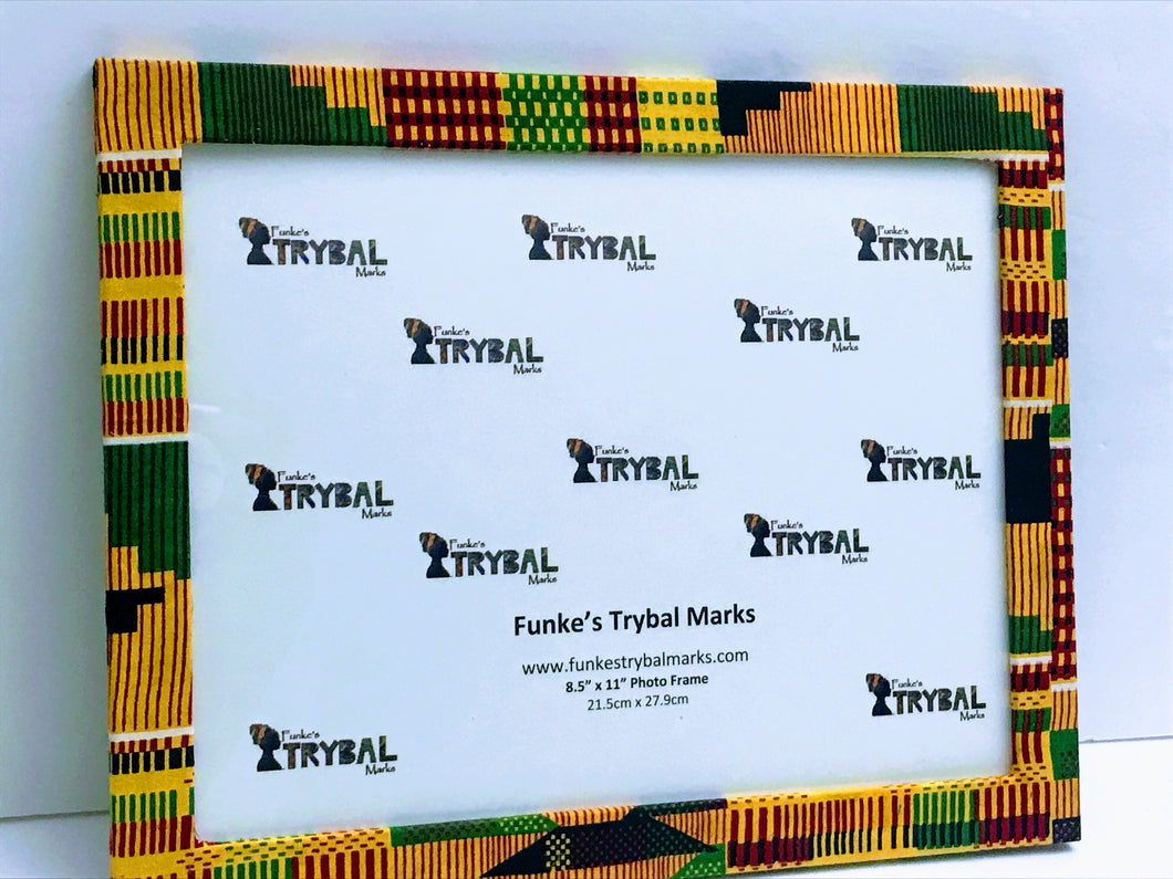 Kente Print Fabric Picture Frame C3 - 8.5