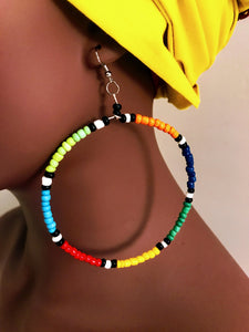 Beaded Hoop Earrings - Style 4