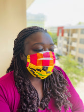Reusable African-Print Cotton Face Masks - Style A