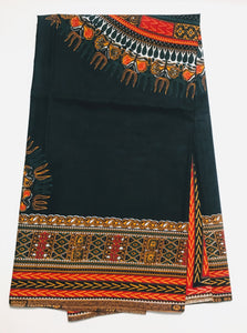 Dashiki - Angela Print Panel - Navy Blue