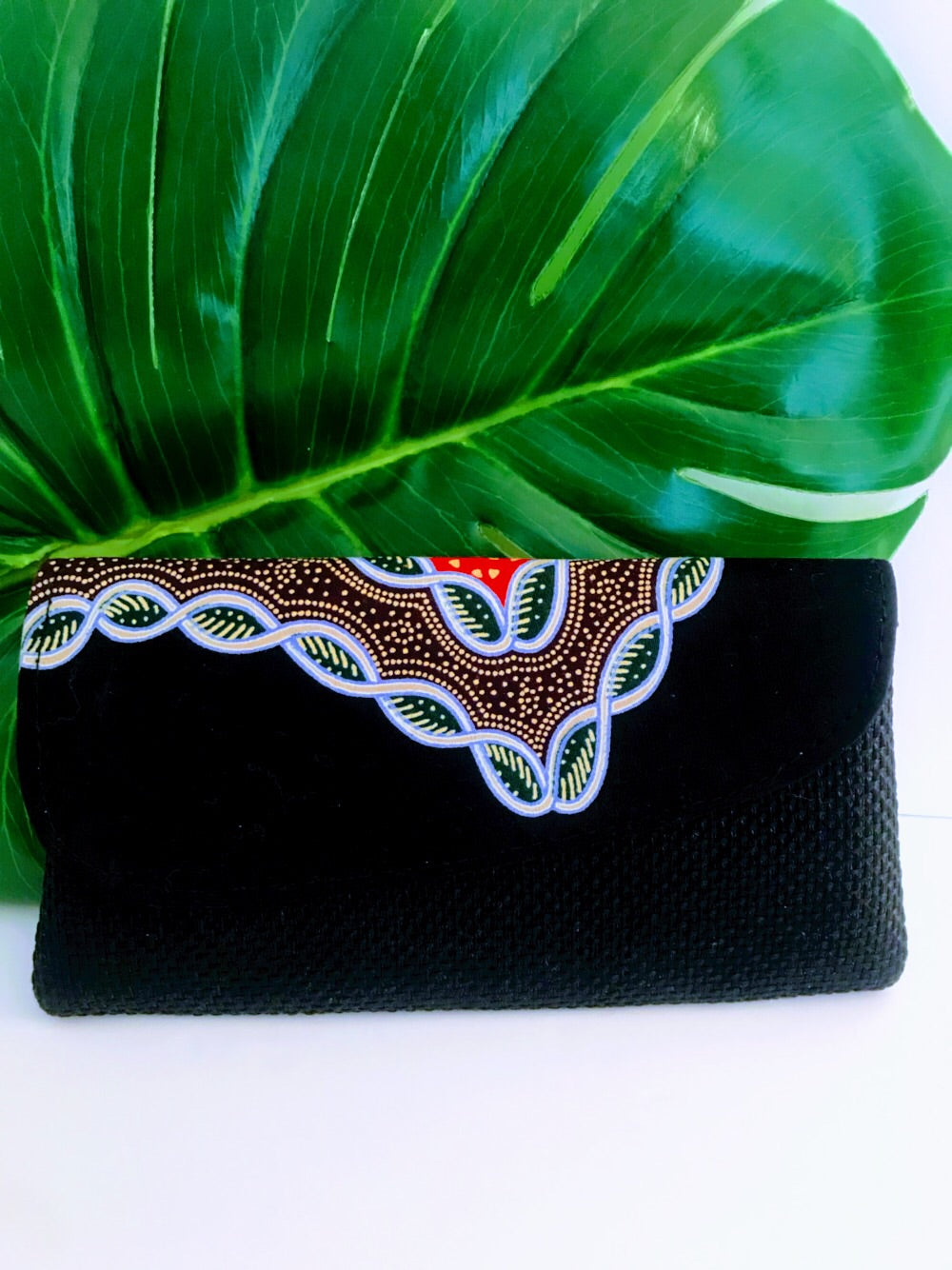 Dashiki/Angelina Print and Jute Clutch -  Small01