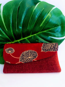 Dashiki/Angelina Print and Jute Clutch -  Small02