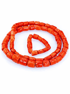 Nigerian Coral Bead Jewelry Set - Men's 04