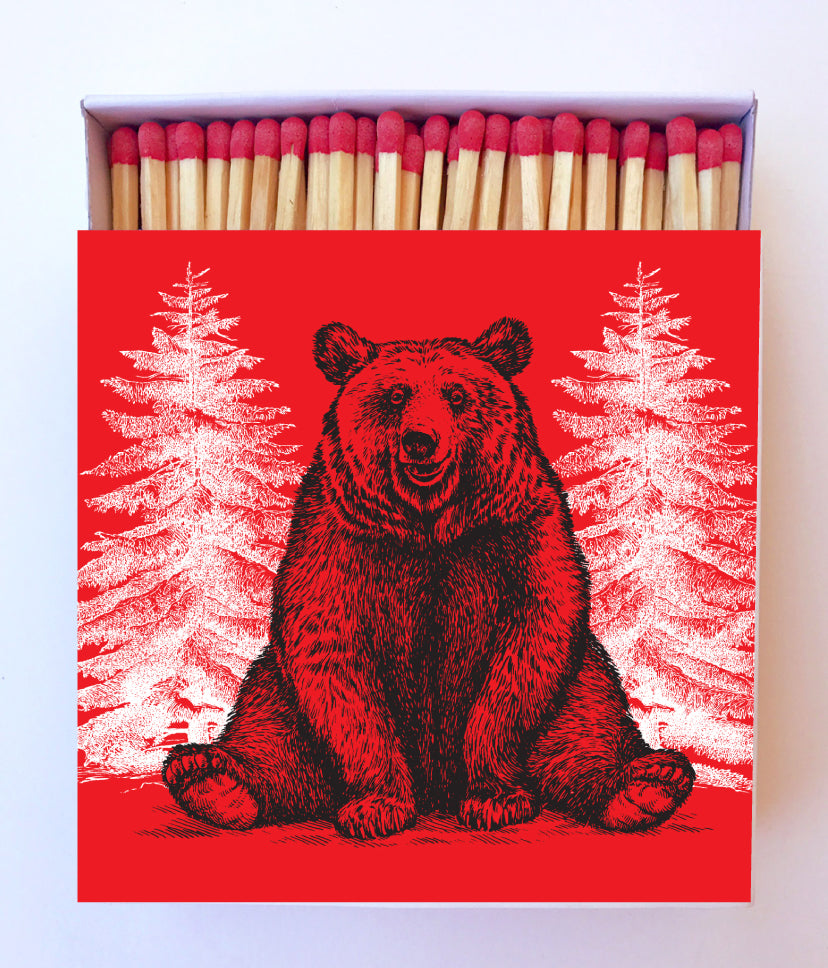 Holiday Bear Matchbox