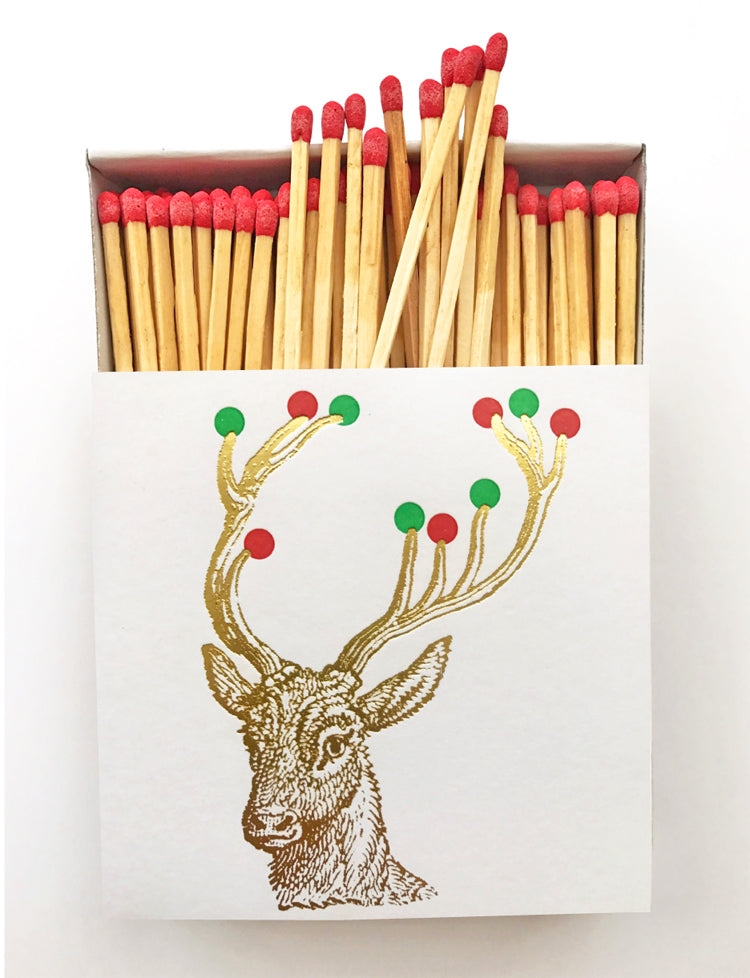 Reindeer Lights Matchbox