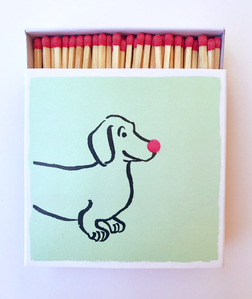 Red-Nose Dachshund Matchbox