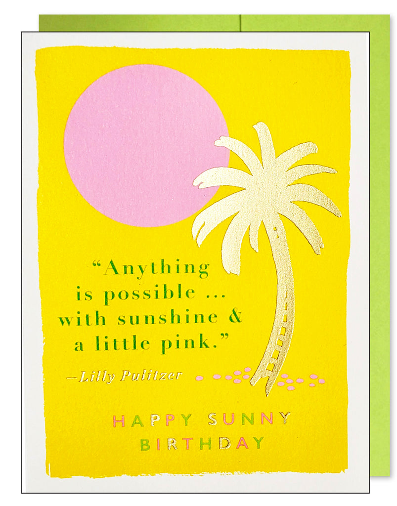 Sunny Birthday Quote