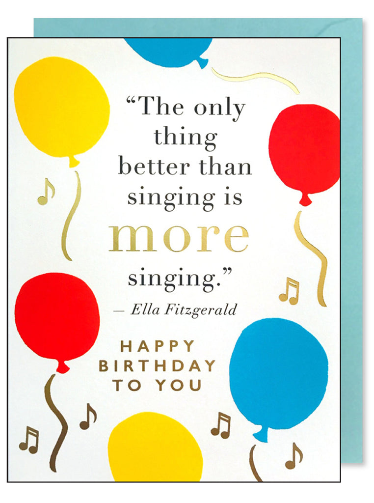 Singing Quote Birthday