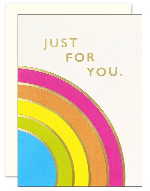 Just for You Rainbow Mini Card