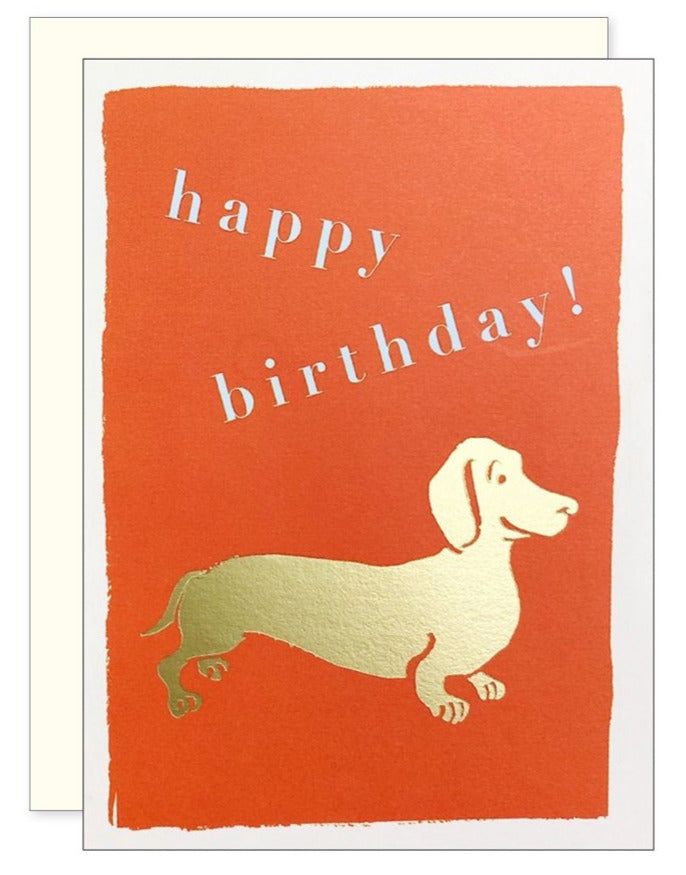 Dachshund Enclosure Card