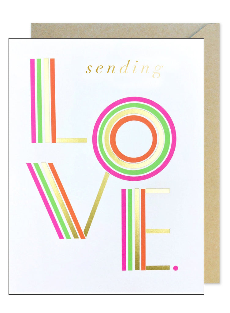Sending Love Rainbow Type