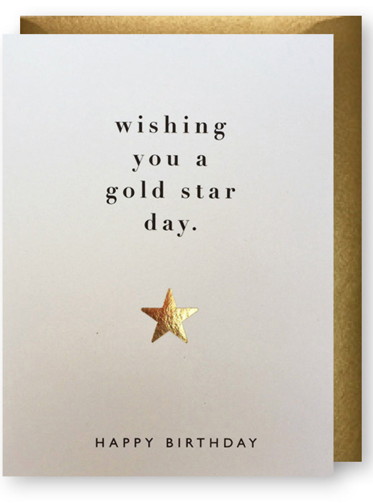 Gold Star Birthday