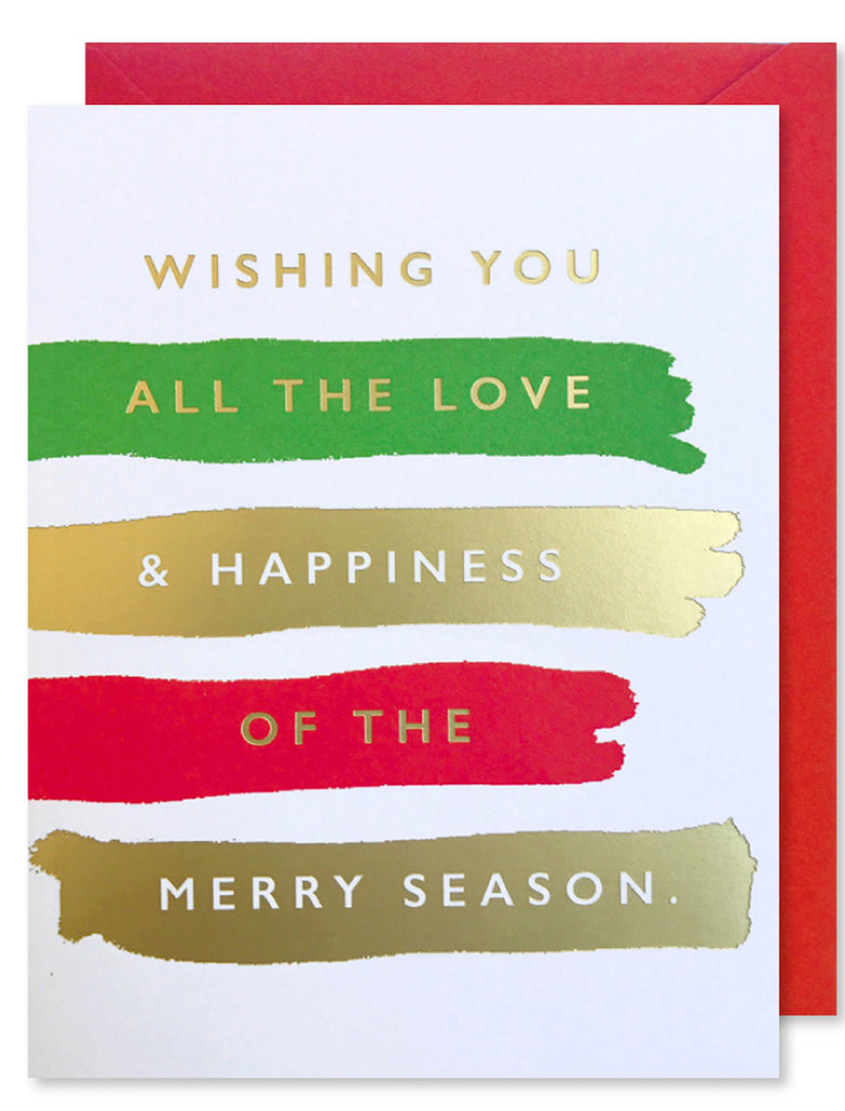 Merry Season Holiday Brushstrokes
