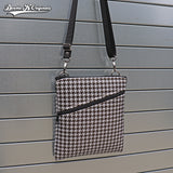"Houndstooth Crossbody - 8"" x 9"""