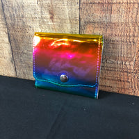 Rainbow Holographic Singlewide Snap Wallet
