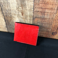 Ruby Red Men's Single Fold Wallet