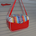 Boxer Bag with wrap around Serape Stripes