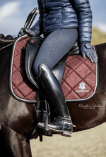 Charcoal Black Saddle Pad Set