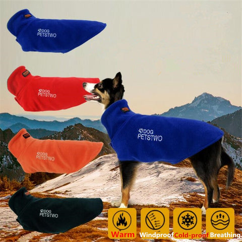 Outdoor Sports Big Dog Coat Warm Windproof Large Pet Jacket Fleece Cloak Outfits Clothes Outerwear For Medium Pet Dog(S-XXXL)