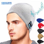 Warm  Bluetooth  Hat with Soft and smart Microphone Wireless Music Headset Headphone Cap  for Outdoor Sport  Beanie Comfortable