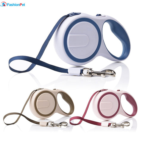 3M 5M Length Double Color Pet Dog Retractable Leash Lead  for Medium Small Pet Dog