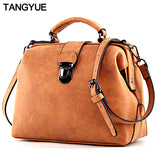 TANGYUE Handbags Women's Bag Shoulder Female Luxury Matte Leather Messenger Bag Women's Crossbody Ladies Hand Bags for Women sac