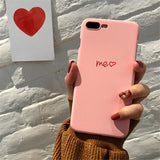 Cute Love Heart Print Back Cover For iPhone X 7 6 6S Plus 5 5S SE Phone Case Hard PC Cases Coque For iPhone 8 8 Plus