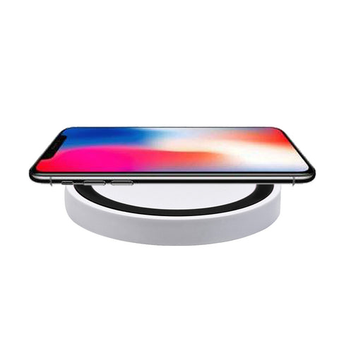 Portable Qi Wireless Power Fast Charger Charging Pad For Iphone 8 / 8 Plus / X High Speed Certified Cell Phone Accessories