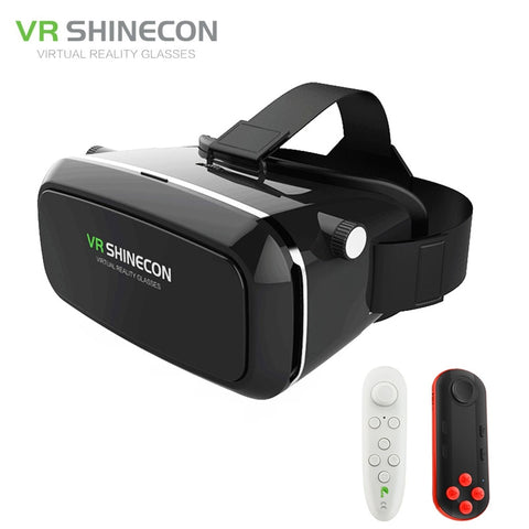 Shinecon VR 3D Glasses Google Cardboard Virtual Reality Smartphone VR Headset Cardboard For Android With Controller From Russian